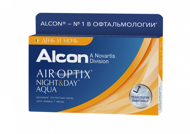 Контактные линзы Контактные линзы Air Optix Night & Day Aqua (3шт.)