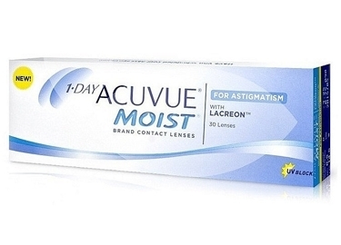 Контактные линзы Acuvue 1-day Moist for Astigmatism (30шт.)