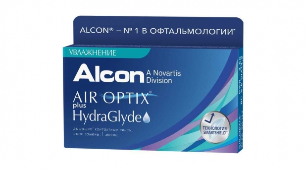 Контактные линзы Air Optix Plus Hydlaglyde (6)
